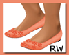 ORANGE girls BALLET shoe
