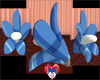 COOL BLUE RETRO FLOWER C