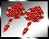 *M* Valentine earrings