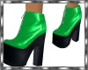 ~NW Green & Black Bootie
