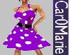 CM! 50s Purple polka dot