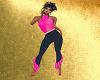 Halter Top& Jeans - Pink