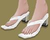 Square Toe Mules(White)