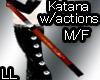LL Katana w/actions M/F