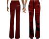 Dark Red Cargo Pants