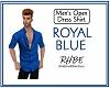 RHBE.RoyalBlueOpenShirt