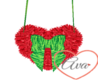 Heart Purse Red/Green