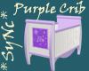 Sync Pretty Purple Crib