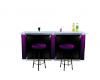 purple&black wedding bar