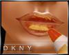 metalic gold lip gloss