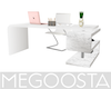 Glass Top Marble Desk