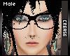 :C: Black Nerd Glasses M