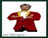 JT Dk Red Tux Jacket