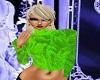 Turtleneck green velvet