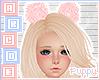 . Pink Hair Pom Poms