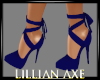 [la] Blue velvet heels