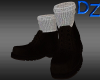 Dark Brown Boots w/Socks
