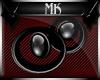 !Mk! Black Sphere Earing