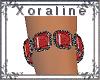 (XL)Slv/Red Bracelet R