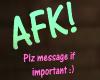 C  AFK Head Sign
