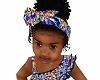 kids blue silk headband