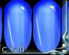 Cym R. Blue Nails
