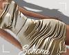 ṩSatin Dress Gold M