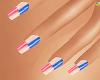 (AF) Blue & Pink Nails