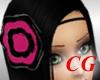 (CG) B&Pnk Rose Headband