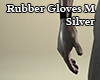 Rubber Gloves M Silver