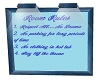 PC Blue Room Rules