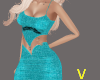V Party Blue Outfit