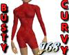 J68 Busty Curvy Halfsuit