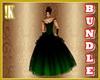 Emerald BR gown bundle