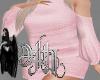 sweater dress pink XL