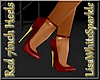 Red & Gold 7inc Heels