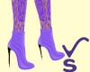 VS - Purple Ankle Boots