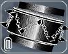 @Brushed Silver Bracelet