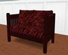 Love seat burgundy velvt