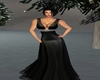 Carina Black Long Gown