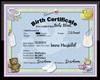 Custom Birth Cert