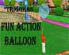 Fun Action blue Balloon