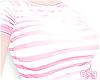 ♡ pink stripe tee