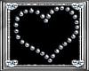 *D* Silver Sparkle Heart