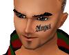 male angel face tatoo