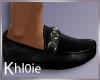 K santa blk leather shoe