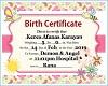 Keres Birth Cert.