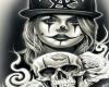 Clown And Skull Cutout