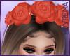 Roses + ribbon headband