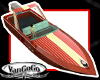 Vintage Speed Boat Wood